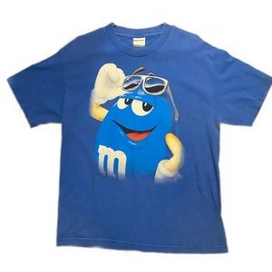 Vintage blue M&M tee shirt